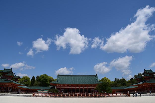 初夏の空の平安神宮
