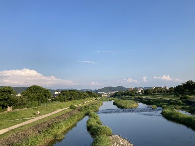 夕晴れの賀茂川