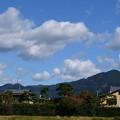 秋空の比叡山