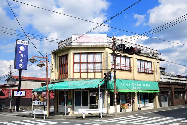 交差点の建物