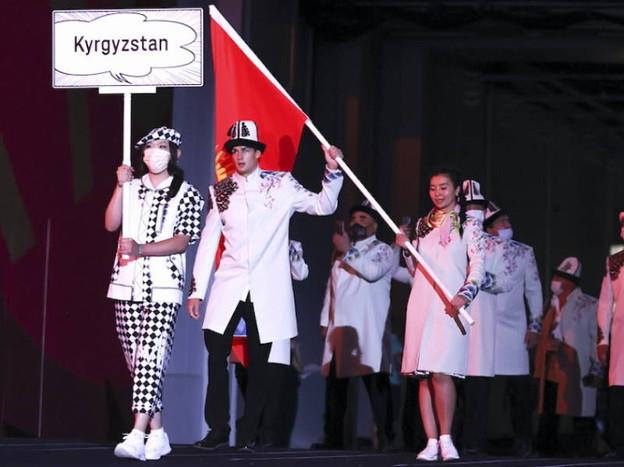 キルギス旗手