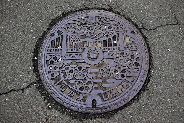 愛知県新城市初代マンホール