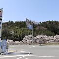 Photos: 「道の駅 田切の里」からの桜並木