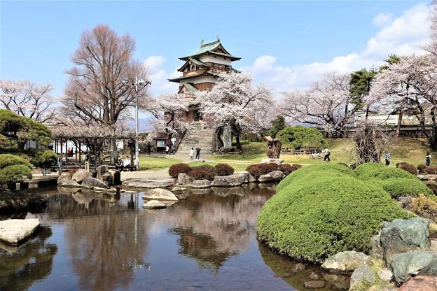 高島城公園池