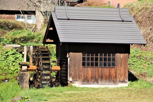 日本の風景水車小屋
