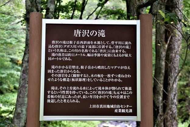 唐沢の滝説明板