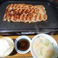 合体餃子と白菜シチュー