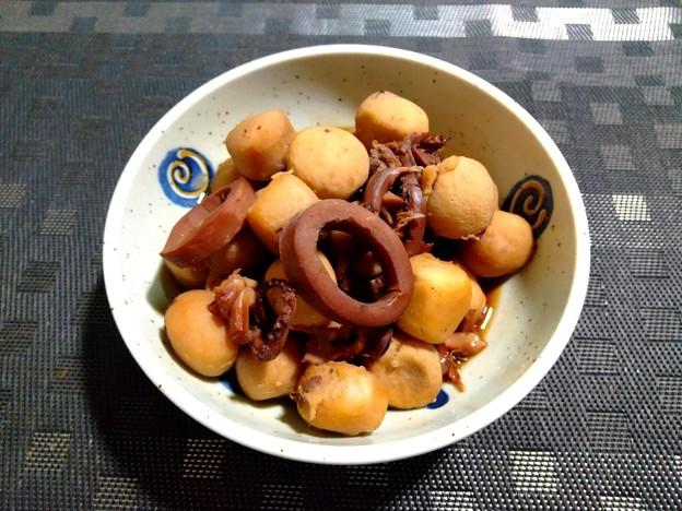 冷食の里芋+イカの缶詰