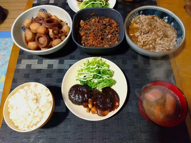 野菜中心の夕飯