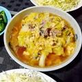 鯖の水煮缶と春キャベツのさっと煮