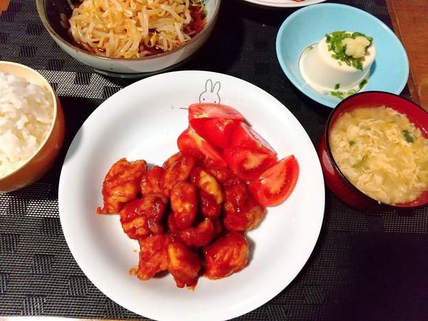 鶏チャップ定食