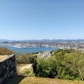 米子城跡から米子港