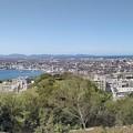 米子城城跡から中海~弓ヶ浜半島~日本海