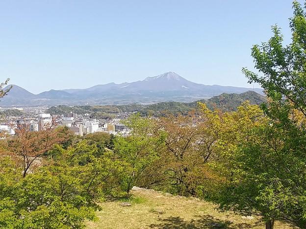 米子城城跡から国立公園大山