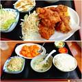 Photos: 唐揚げ定食とエビチリ定食