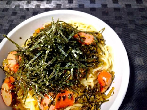 高菜とソーセージ