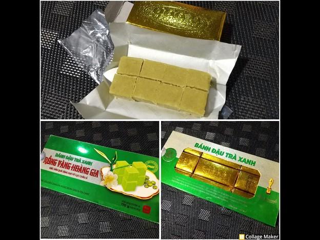 ベトナムのお菓子 バインダウサイン(緑豆餅)