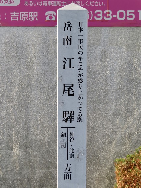 岳南江尾駅 GAKUNANENOO Sta.