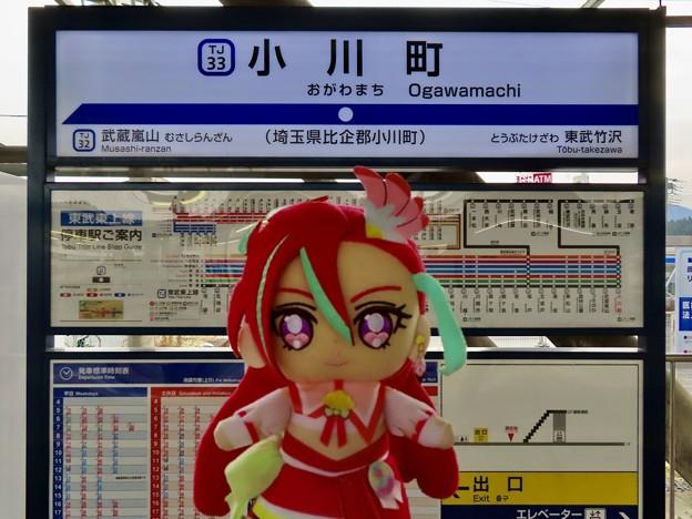 キュアフラミンゴ×小川町駅(埼玉県)