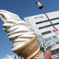 栗あんソフトクリーム。