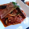 Photos: トマトとなすのスパゲッティー。
