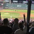 Photos: 7回裏。。。私を野球に連れてって♪