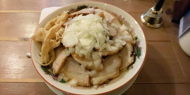 福島市の自家製麺うろたさんにてゴワゴワをいただく 今回のはお肉たっぷりで超ボリューミー 美味しゅうございました