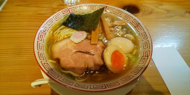 福島市の自家製麺うろたさんにて限定ラーメン味玉トッピング 美味しゅうございました