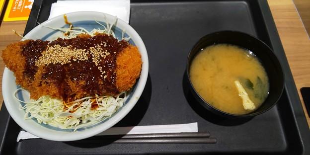松のや イオンモールいわき小名浜店さんにて味噌ロースかつ丼をいただく 美味しゅうございました
