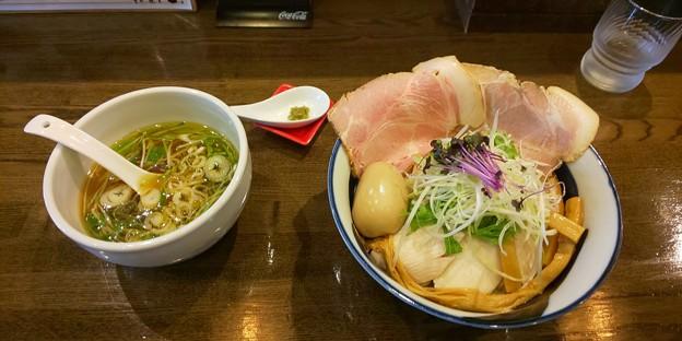 Photos: 郡山市の麺屋信成さんにて鶏塩つけ麺(小・特製)をいただく 美味しゅうございました