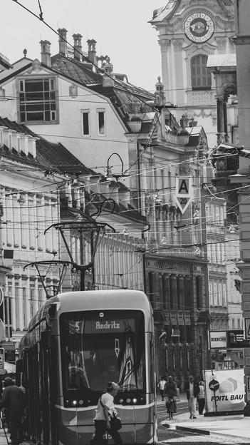 Tramway in Graz Austria