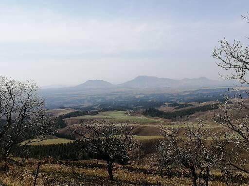久住高原展望台からの景色