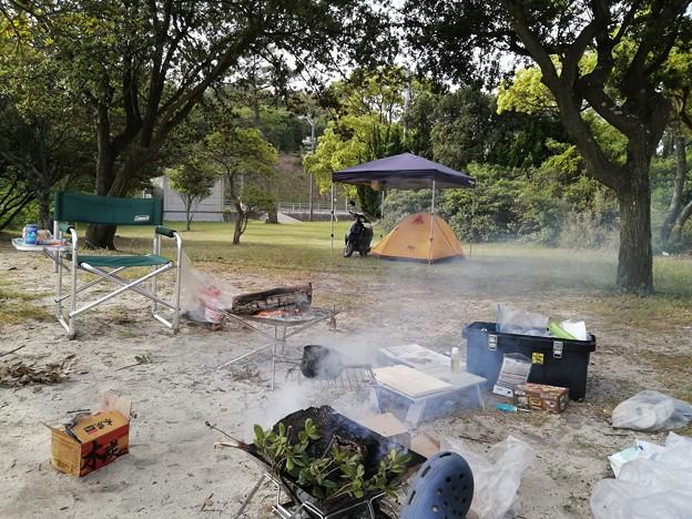ビーチのキャンプ場