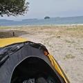 Photos: 屋代島のキャンプ場からの海