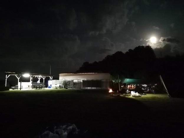 月明かりのキャンプ場