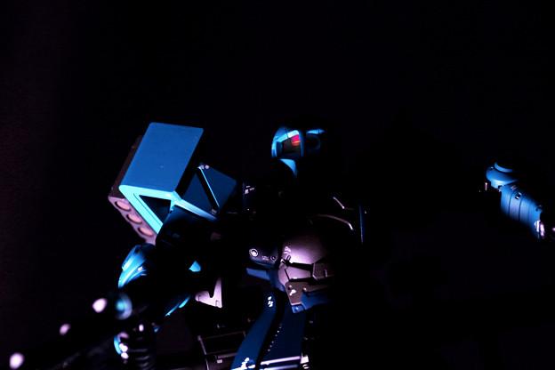 Photos: Blue-colored Zaku.