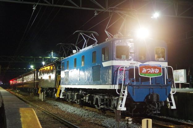 重連電機・12系客車で運行された夜行急行「三峰51号」熊谷行