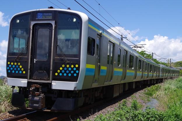 E131系2両×2編成の4両編成運用