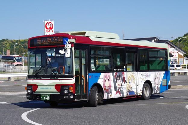 日東交通『シグルリ』ラッピングバスの市内線 館山航空隊行き