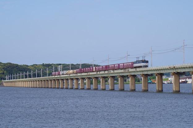 北浦橋梁を渡る通称「鹿島貨物」