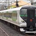 Photos: 館山駅に入線するE257系オオOM-91編成