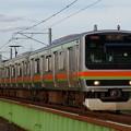 浅川橋りょうを渡るE231系3000番代