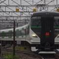 Photos: 館山駅電留線から出てきたE257系5000番代オオOM-91編成