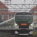 館山駅を発車するE257系5000番代新宿さざなみ