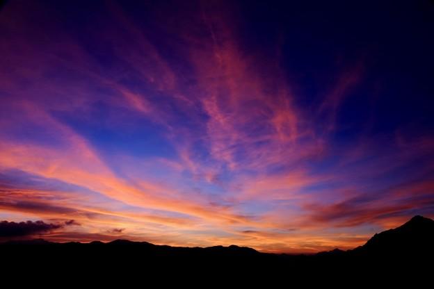 日没後の美-長野県安曇野市:燕山荘