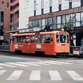 みかん色の路面電車-愛媛県松山市:大街道