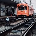 路面電車-愛媛県松山市:道後温泉