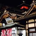 夜の温泉街-愛媛県松山市:道後温泉