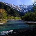 朝の河童橋にて-長野県松本市:上高地