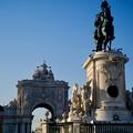 西日に輝く銅像-Lisbon, Portugal